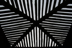 Skylight. A gazebo in a park with a slatted roof Stock Photography