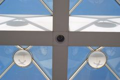 Skylight. In the sunshine and cross royalty free stock photos