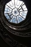 The skylight above the spiral staircase within the Vatican Museums in Rome Stock Image