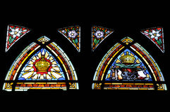 Skylight Artwork of church window Stock Photography