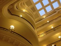 Skylight in a Bangalore hotel. The skylight ceiling at the ITC Windsor Hotel, Bangalore, India Stock Image