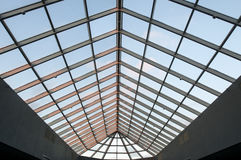Skylight Ceiling at Dusk in Commercial Office Building Stock Photography