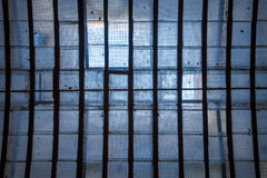 Skylight in ceiling with reinforced wire meshed glass sun illumi Stock Photography