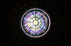 Skylight of a church in Rome. stock image