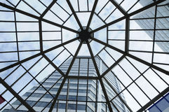 SKylight and high-rise building. High-rise building through skylight Stock Photo