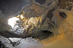 Skylight Interior of Sunshine Cave Lava Tube Stock Photo