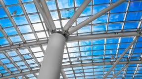 Skylight okno lub abstrakcjonistyczny architektoniczny tło Architectu Zdjęcia Royalty Free