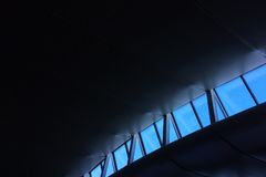 Skylight in the roof of Heathrow Airport Royalty Free Stock Photos