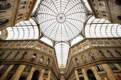 Skylight in the Umberto I Gallery Royalty Free Stock Photos