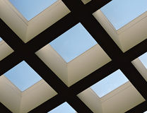 Skylight View of Clear Blue Sky Royalty Free Stock Image