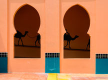 Skylight in wall, Morocco architecture style Stock Photo