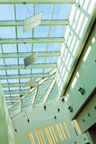 Skylight window. Building interior, skylight window in shopping mall Royalty Free Stock Image
