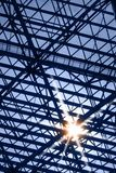 Skylight window with sun glare. Abstract architecture background royalty free stock photo