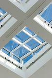 Skylight windows. With a blue sky behind them Royalty Free Stock Photo