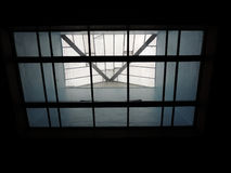 Skylights over glass ceiling Royalty Free Stock Image