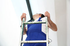 Skylights, professional company assembler. Royalty Free Stock Photos