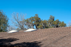Skylights on Roof Stock Photo