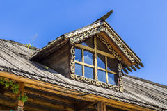 Skylights wooden house Royalty Free Stock Photos