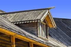 Skylights wooden house Stock Photos