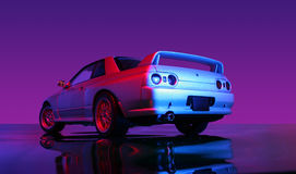 Skyline. A famous Japanese supercar, Skyline royalty free stock photos