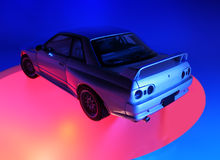 Skyline. A famous Japanese supercar, Skyline royalty free stock images