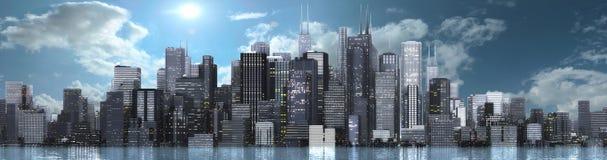 Skyline. 3d render of a skyline Stock Image