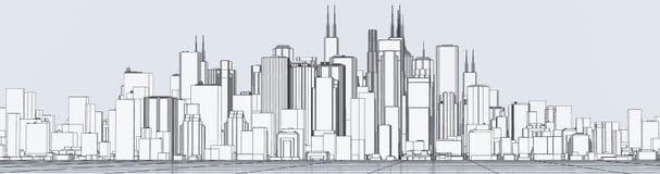 Skyline Lizenzfreie Abbildung