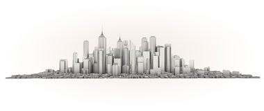 Skyline Foto de Stock Royalty Free
