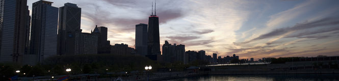 Skyline. This is the Chicago, IL skyline royalty free stock image