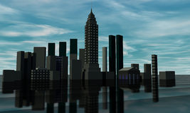Skyline 3D render Stock Photos