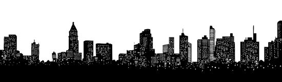 Skyline royalty free illustration