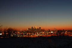 Skyline. Minneapolis skyline at twilight time royalty free stock photography