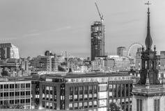 Skyline aérea da cidade na noite, Londres - Reino Unido Imagens de Stock
