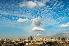 Skyline above capital building at bangkok thailand Royalty Free Stock Images