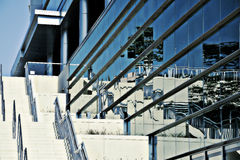 Skyline Abstract Cool Blue Stock Photo