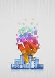Skyline abstract Stock Photos