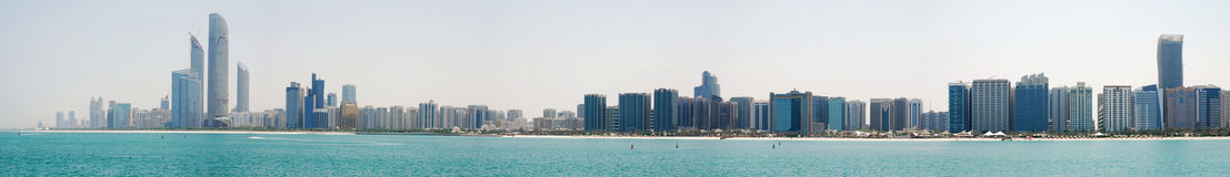 Skyline Abu Dhabi Stock Photo