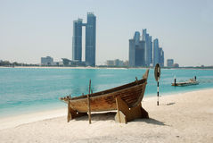 The skyline of abu dhabi Stock Image