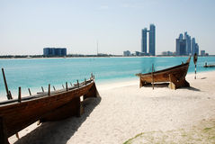 Skyline Abu Dhabi Stockbild
