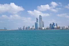 Skyline of Abu Dhabi Royalty Free Stock Photo