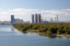 Skyline of Abu Dhabi Al Reem Island Royalty Free Stock Photography
