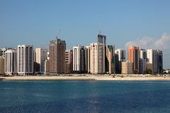 Skyline of Abu Dhabi Downtown Royalty Free Stock Image