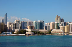 Skyline of Abu Dhabi Tourist Club Stock Image