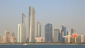 Skyline of Abu Dhabi, UAE stock video