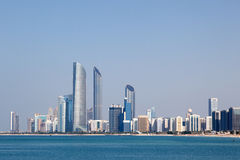 Skyline of Abu Dhabi Royalty Free Stock Photos