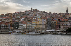 Skyline from across the Douro River, Porto Stock Image