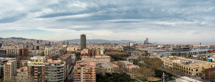 Skyline aerial view of Barcelona. Spain stock images