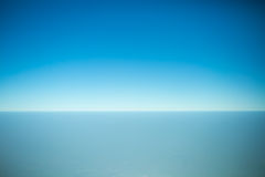 Skyline from an airplane window Royalty Free Stock Photography