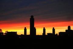 Skyline Albaniens NY Lizenzfreie Stockfotografie