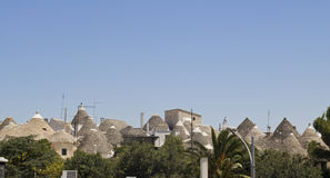 Skyline of alberobello Royalty Free Stock Photography
